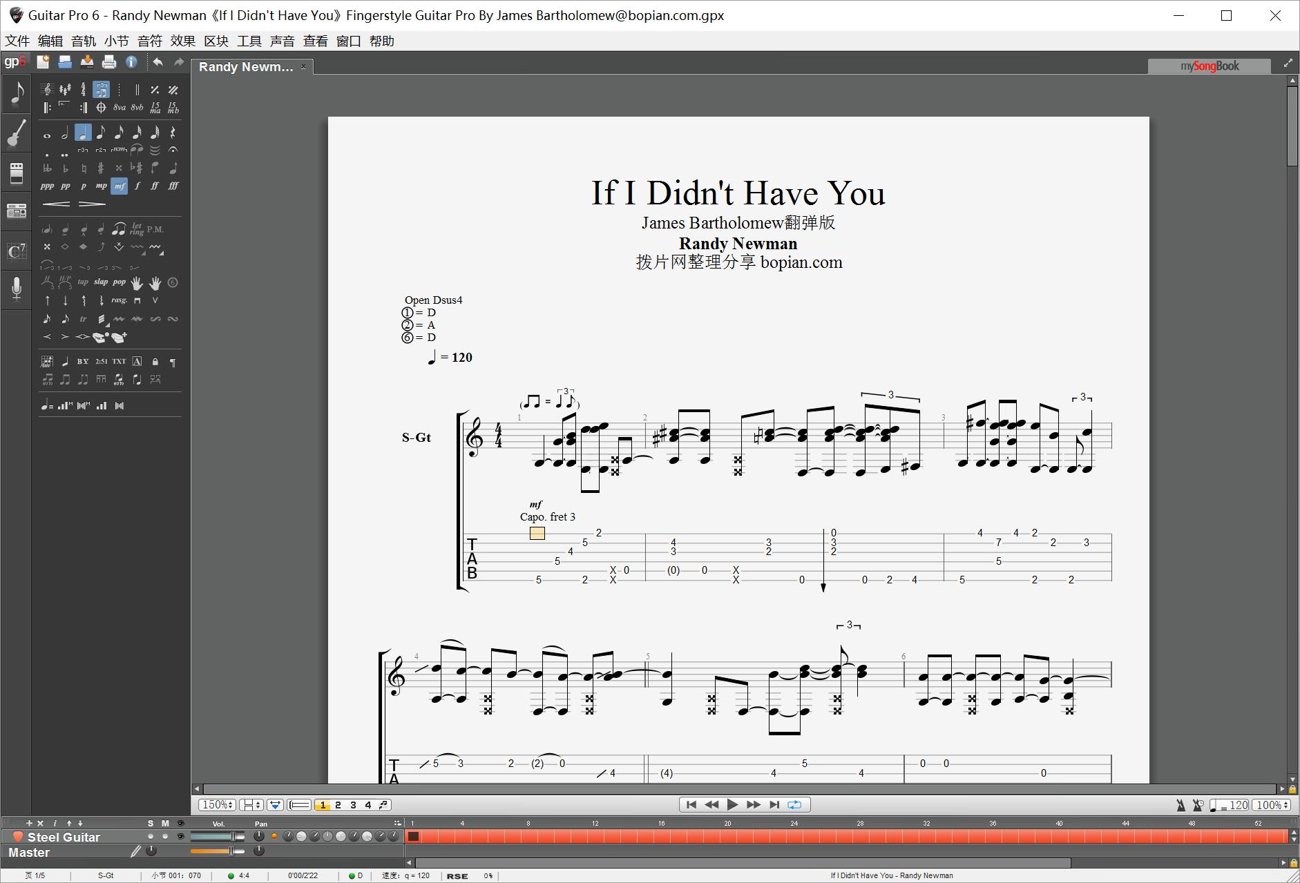 拨片网_Randy_Newman《If_I_Didnt_Have_You》Fingerstyle_Guitar_Pro_By_James_Bartholomew@bopian.com_.png