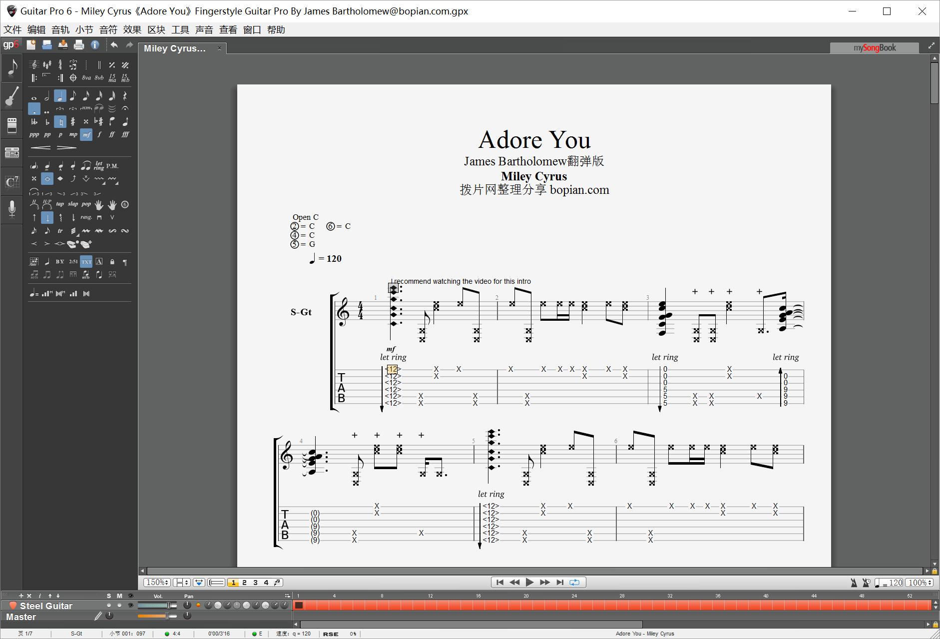 拨片网_Miley_Cyrus《Adore_You》Fingerstyle_Guitar_Pro_By_James_Bartholomew@bopian.com_.png